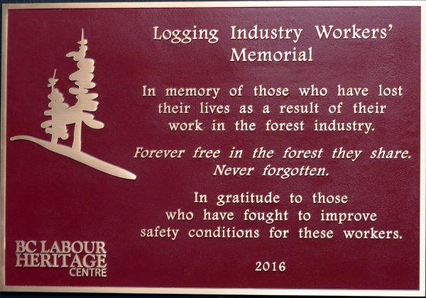 Logging Industry Workers' Memorial