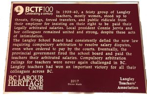 Remembering Working People: Plaques Around the Province