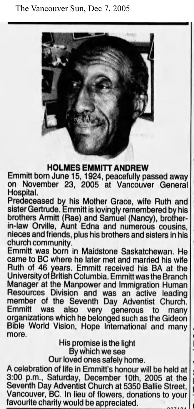 Emmitt Holmes: BC Trade Unionist, Black Activist and Baseball Player