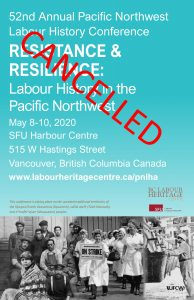 52nd Annual Pacific Northwest Labour History Conference