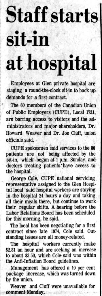 The stormy history of union organizing in BC's private hospitals