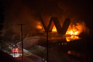 A Historic Pier, In Flames