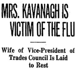 A socialist funeral for 'Mrs Kavanagh'